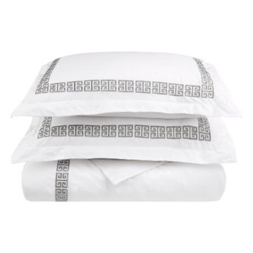 Superior Kendell Greek Border Cotton Duvet Cover Set