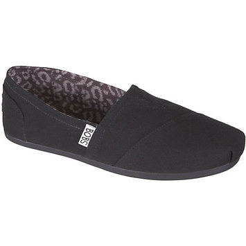 Skechers Womens Bobs Peace Slip On Loafers-6,BLACK