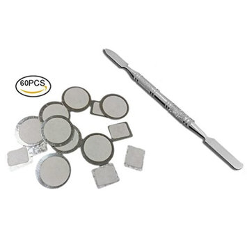 Pretty See Makeup Palette Sticker Set Stainless Steel Cosmetic Palette Stickers Makeup Spatula with Adhesive Tape