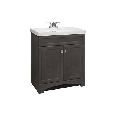 Style Selections Drayden Grey Integral Single Sink Bathroom Vanity with Cultured Marble Top (Common: 31-in x 19-in; Actual: 30.5-in x 18.75-in) CM18F30-SS