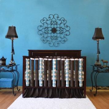 Go Mama Go Designs Doctor-Approved Vertical Wonder Bumpers, Reversible Blue Damask, 38pk