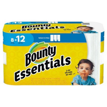 Bounty Essentials Select-A-Size White Paper Towels - 8 Giant Rolls