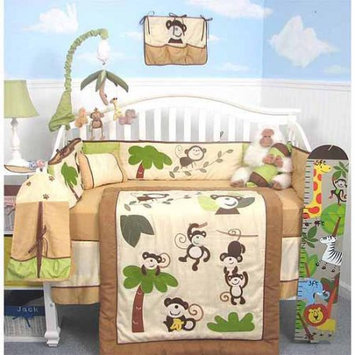 Soho Curious Monkey Baby 14 Piece Crib Nursery Bedding Set