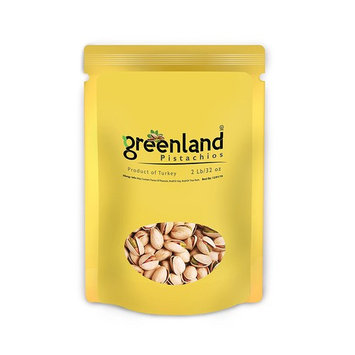 Greenland High Premium Salted and Roasted Antep Turkish Pistachios - (2 LB) Always Fresh