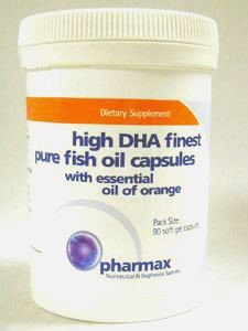 Pharmax High DHA Finest Fish Oil with Essential Oil of Orange, 90 ct