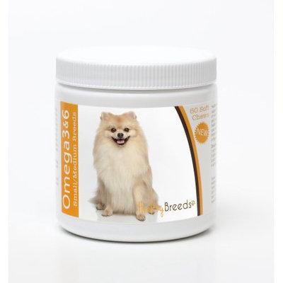 Healthy Breeds 840235142805 Pomeranian Omega 3 & 6 Soft Chews - 60 count