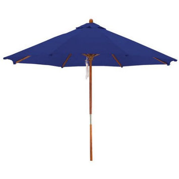Lauren & Company Round Navy Blue Patio Umbrella with Pulley (Common: 108-in; Actual: 108-in) LCUD003R-NAVY