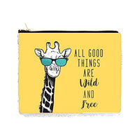 Hipster Giraffe in Glasses - All Good Things Are Wild and Free - 6.5