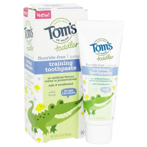 Tom's of Maine - Toddler Fluoride-Free All Natural Training Toothpaste Mild Fruit - 1.75 oz.(pack of 6)