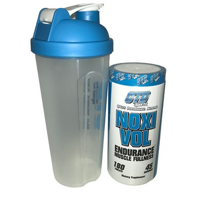 Free Shaker Cup Promo. Nitric Oxide Supplement, Powerful Muscle Building NO Booster with L-Arginine, Noxivol 180 Tablets