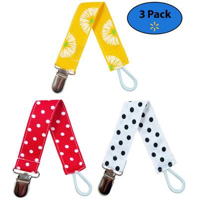 EliteBaby Unisex Pacifier Clip Holder, 3 Pack Teething Toys, Soothie Pacifiers, Baby Blanket, & Baby Bibs Stainless Steel Clasp Baby Gift