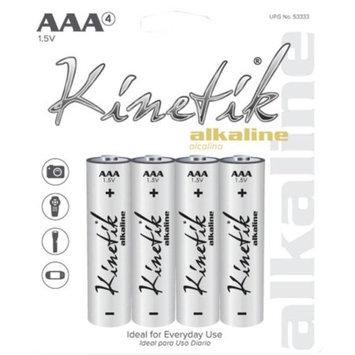 Kinetik 53833 Alkaline Batteries, AAA, Carded, 4-Pack