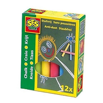 SES Creative 201 Blackboard Chalk 12 Per Pack - Case of 24