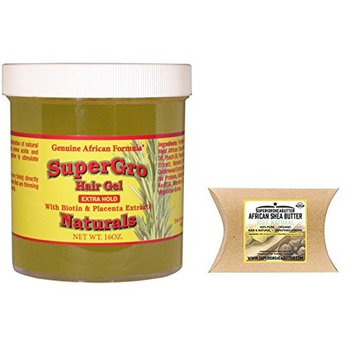 African Formula Super Grow Hair Gel Extra Hold with ( Superior shea butter packett 1oz )
