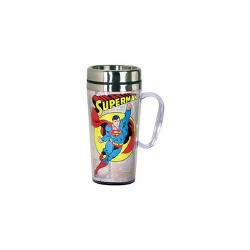 Spoontiques Superman Comic Panel White Insulated Travel Mug with Handle