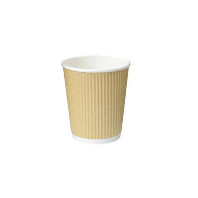 Packnwood 210GCR4BG 4 oz Rippled Beige Cups 2.4 x 2.4 in.
