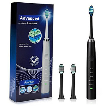 Intelligent Waterproof Sonic Electric Rechargeable Toothbrush, Five Clean Modes, 31000-Times/Minute High Frequency Vibrations, Charge 6 Hours Can...