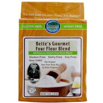 Authentic Foods Bette's Gourmet Four Flour Blend Gluten Free 3 lbs