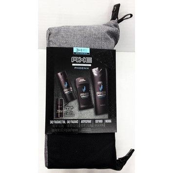 Axe Toiletry Bag (Phoenix) NEW for 2017, Gift Set for Him: Body Wash, Antiperspirant, Daily Fragrance + Bonus YOU Daily Fragrance + FREE 5-Pack of Barbasol Razors.