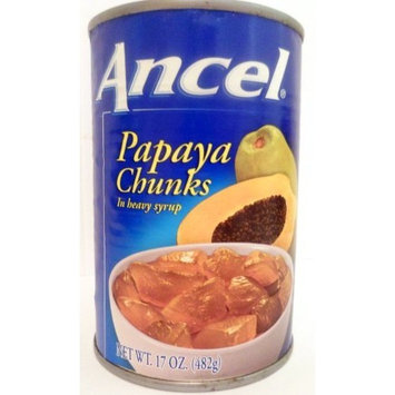 Ancel Papaya Chunks In Heavy Syrup 17 Oz .(Pack of 12)