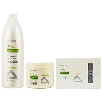 Alfaparf Semi Di Lino Reconstruction Reparative Shampoo 33.81oz & Mask 16.91oz & Lotion 6x13ml