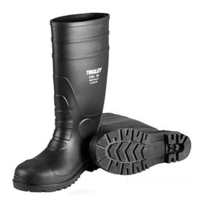 Sz10 Blk Pvc Sock Boots