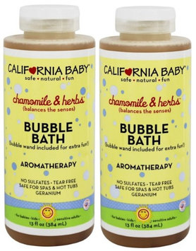 California Baby Chamomile and Herbs Bubble Bath - 13 Ounce - 2 Pack