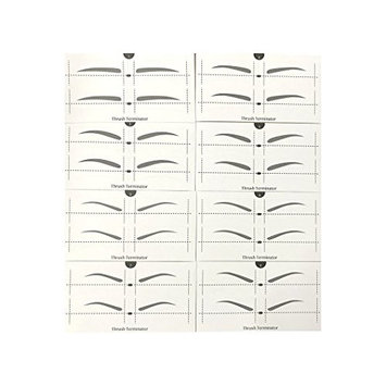 Full Set Reusable Eyebrow Shaping Stencils, Eyebrow Grooming Stencil Kit, Brow Stencils, Eyebrow Thrush Card 8 Kinds of Eyebrow-shaped Total 32 Pairs