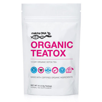 MatchaDNA TEATOX Slimming Detox Tea With Matcha Green Tea Powder 14 Teabags 14 Day Supply