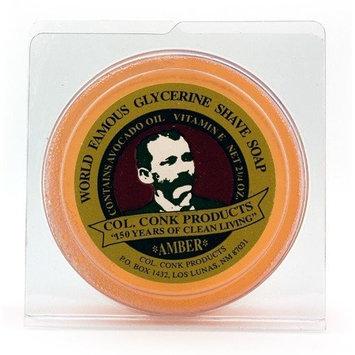 Col. Ichabod Conk Amber Shaving Soap, Small