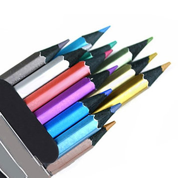 Bluelans 12x Metallic Non-Toxic Colored Drawing Pencils 12 Color Drawing Sketching Pencil