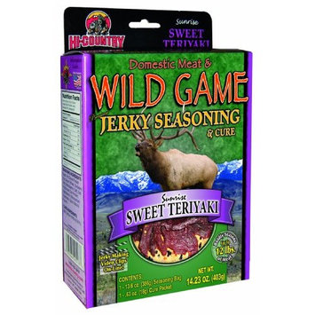 Hi-Country Snack Foods Domestic Meat and WILD GAME 14.23 oz. Sweet Teriyaki Home Jerky Spice Kit