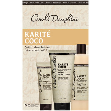 Carol's Daughter Bath & Body Luxury Kit, Karit Coco For Extra-Dry Skin, 3 Pieces