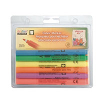 Marvy Uchida Fabric Markers Sets fluorescent colors set of 6