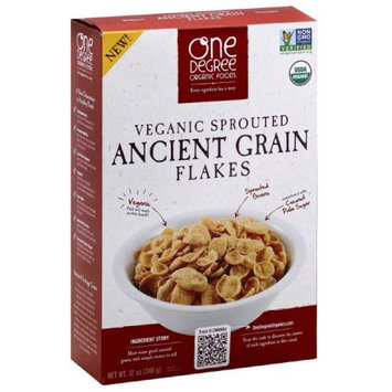 One Degree Organic Foods Veganic Sprouted Ancient Grain Flakes Cereal, 12 oz, (Pack of 6)