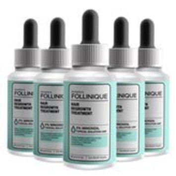 FOLLINIQUE - Hair Regrowth Treatment, FDA Approved, Fast Acting, Amazing Clinical Results In 2 Months, 2% Minoxidil (Buy 3 Get 2 Free)'