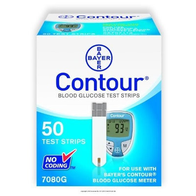 Bayer's Contour Blood Glucose Test Strips