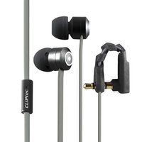 Cliptec Black Curve Music Stereo 3.5mm Wired In-Ear Headphones Noise Isolation In-line Control w/Mic