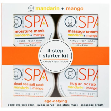 Petal Fresh, Spa, 4 Step Starter Kit, Age Defying, Mandarin + Mango, 4 - 3 fl oz (85 ml) Each [Scent : Mandarin + Mango]