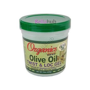 Africas Best Organics Olive Oil Gel Twist & Lock 15oz Jar by Africa's Best