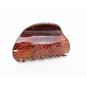 Painted marbled hair claw clamp clips medium fine hair