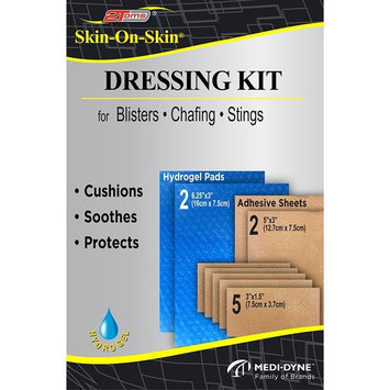 2Toms Skin-On-Skin Dressing Kit - Medical Grade Adhesive Bandages - Blisters, Stings, Chafing & Skin Irritations (All Day Wear)