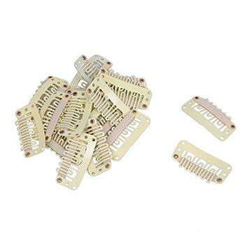 TOOGOO(R)25 PCS Hair Clamps Hair Clips Wig Clips beige