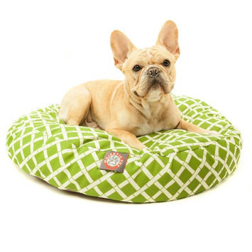 Majestic Home Goods Inc Majestic Home Goods Bamboo Round Pet Bed Red, Large