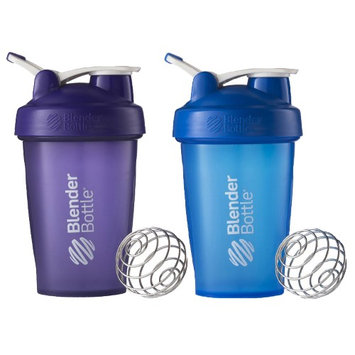 Blender Bottle 2-Pack Classic 20 oz. Shaker w/ Loop Top - Purple & Blue