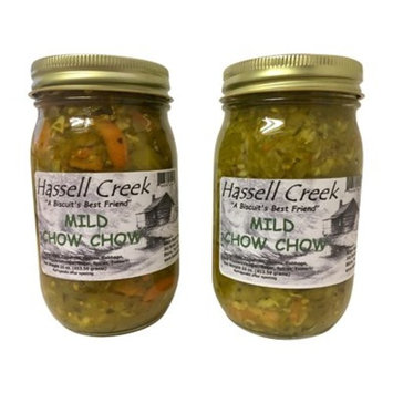 Hassell Creek Mild Chow Chow 16 Ounce Jar (Pack of 2)