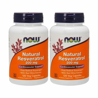 NOW Foods Natural Resveratrol, 200mg, 120 Vcaps
