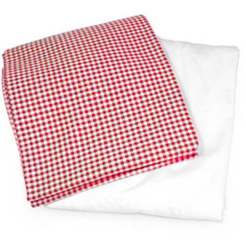 Sleeping Partners Tadpoles Classic Gingham Fitted Sheets - Red - 1 ct.