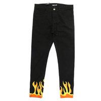 EMBELLISH FLAME BLACK DENIM