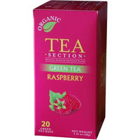 Tea Section Raspberry Organic Green Tea 20 Bags - Case of 6